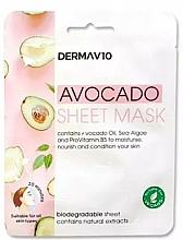 Voňavky, Parfémy, kozmetika Textilná maska na tvár - Derma V10 Avocado Sheet Mask