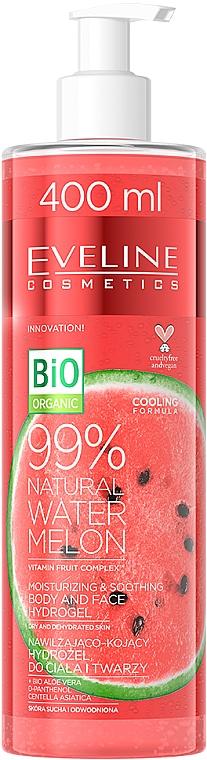Melónový hydrogél na telo a tvár - Eveline Cosmetics 99% Natural Watermelon