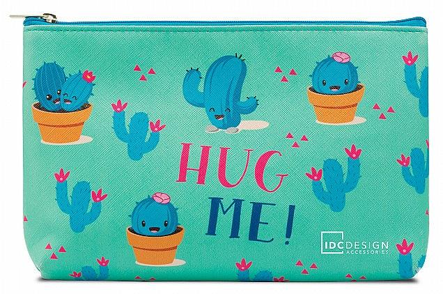 Kozmetická taška s potlačou, tyrkysová - IDC Design Accessories Cosmetig Bag
