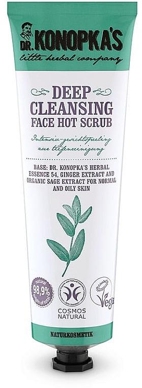 Peeling na hlboké čistenie tváre - Dr. Konopka's Face Hot Deep Cleansing Scrub