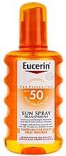 Voňavky, Parfémy, kozmetika Sprej na opaľovanie pre telo - Eucerin Sun Spray Transparent SPF 50