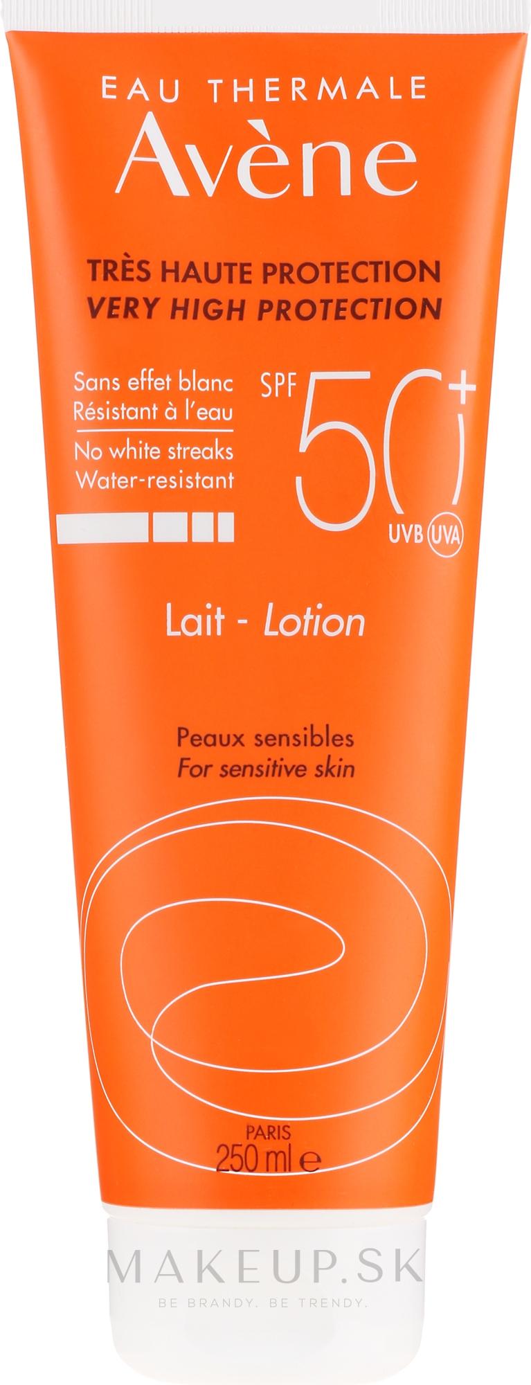 Opaľovací lotion - Avene Eau Thermale Sun Very High Protection Lotion SPF50 — Obrázky 100 ml