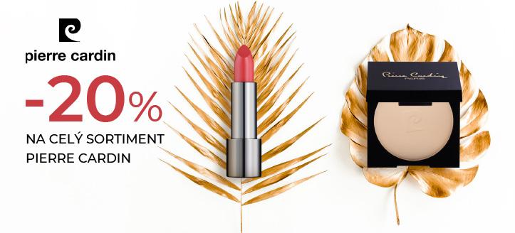 Zľava 20% na celý sortiment Pierre Cardin. Ceny na webe sú uvedené so zľavou