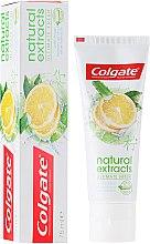 """Voňavky, Parfémy, kozmetika Zubná pasta """"Dokonalá sviežosť"""" - Colgate Natural Extracts Ultimate Fresh Lemon"""