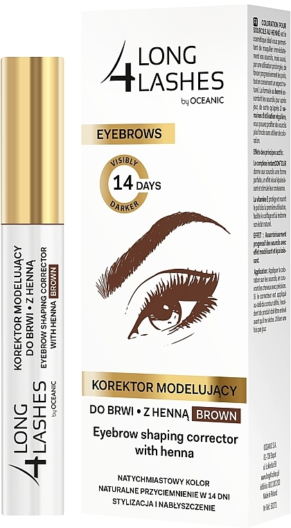 Korektor na obočie s farbiacim účinkom - Long4Lashes Eyebrow Shaping Corrector with Henna