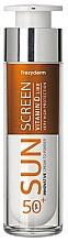 Voňavky, Parfémy, kozmetika Krém na tvár s SPF ochranou - Frezyderm Sun Screen Vitamin D Like Skin Benefits Cream to Powder SPF50+