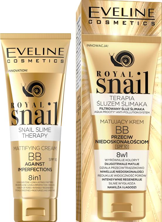 Zmatňujúci BB krém - Eveline Cosmetics Royal Snail BB Cream 8in1