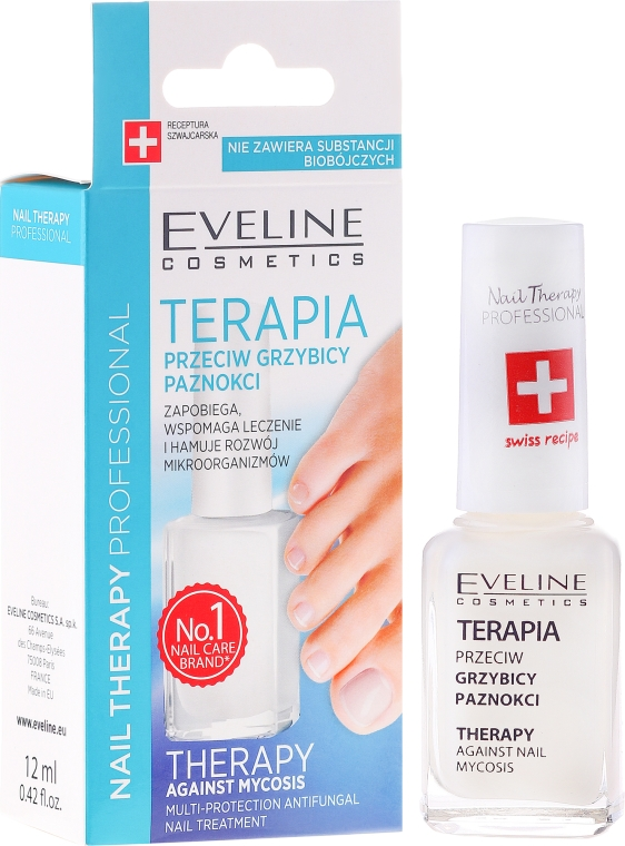Antibakteriálne ošetrovanie nechtov - Eveline Cosmetics Nail Polish for Nail Fungus Feet & Hands Mykose