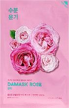 Voňavky, Parfémy, kozmetika Hydaratačná látková maska na tvár s damaškovým ružovým olejom - Holika Holika Pure Essence Mask Sheet Damask Rose