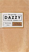 """Voňavky, Parfémy, kozmetika Kávový peeling na tvár a telo """"Káva a čokoláda"""" - Dazzy Coffee Face & Body Scrub Coffee & Chocolate"""