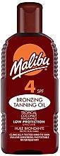 Voňavky, Parfémy, kozmetika Ochranný krém na opaľovanie - Malibu Bronzing Tanning Oil SPF4