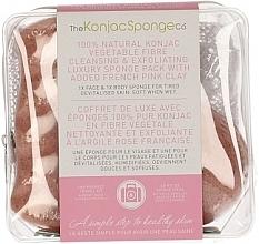 Voňavky, Parfémy, kozmetika Špongia - The Konjac Sponge Company Travel/Gift Sponge Bag Duo Pack French Pink Clay