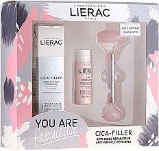 Voňavky, Parfémy, kozmetika Sada - Lierac Cica-Filler Set (f/cr/40ml + f/milk/30ml + roller/1pcs)