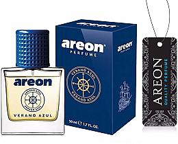 Voňavky, Parfémy, kozmetika Osviežovač vzduchu do auta - Areon Luxury Car Perfume Long Lasting Air Freshener Verano Azul
