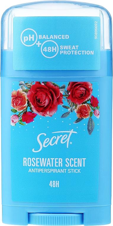 "Tuhý antiperspirant ""Ružová voda"" - Secret Antiperspirant Stick Rosewater Scent"