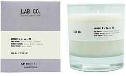 Voňavky, Parfémy, kozmetika Vonná sviečka - Ambientair Lab Co. Amber & Clove