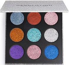 Voňavky, Parfémy, kozmetika Paleta gliterov - Makeup Revolution Pressed Glitter Palette Illusion