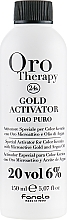Voňavky, Parfémy, kozmetika Oxidačné činidlo s mikročasticami zlata 6% - Fanola Oro Gold