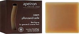 """Voňavky, Parfémy, kozmetika Prírodné mydlo """"Neem"""" pre problematickú pleť - Apeiron Neem Plant Oil Soap"""