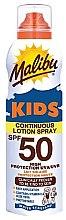 Voňavky, Parfémy, kozmetika Vodotesný opaľovací krém pre deti - Malibu Sun Kids Continuous Lotion Spray SPF50