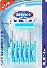 Voňavky, Parfémy, kozmetika Medzizubná kefka, 0,6 mm, modrá - Beauty Formulas Active Oral Care Interdental Brushes Blue
