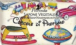 """Voňavky, Parfémy, kozmetika Prírodné mydlo """"Magnolia"""" - Florinda Sapone Vegetale Magnolia Vegetal Soap Handmade"""