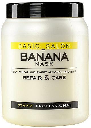 Maska na poškodené vlasy - Stapiz Basic Salon Banana Mask