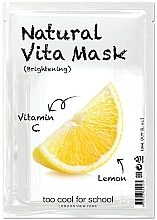 """Voňavky, Parfémy, kozmetika Rozjasňujúca maska """"Citrón"""" s vitamínom C - Too Cool For School Natural Vita Mask Brightening"""