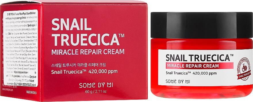 Revitalizačný krém so slimákovým mucínom a ceramidmi - Some By Mi Snail Truecica Miracle Repair Cream