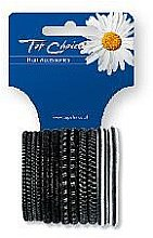 Voňavky, Parfémy, kozmetika Gumy na vlasy 12ks, čierna+striebritá, 22357 - Top Choice