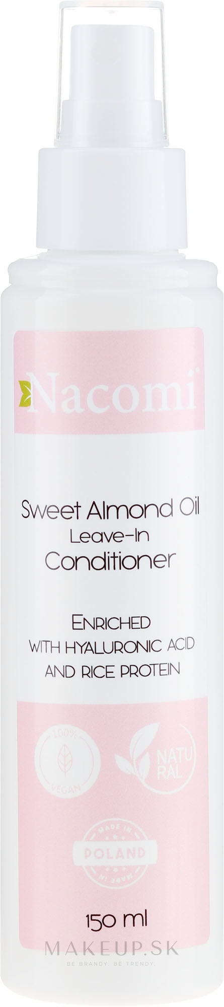 Kondicionér na vlasy - Nacomi No-Rinse With Sweet Almond & Hyaluronic Acid Conditioner — Obrázky 150 ml