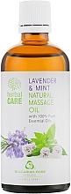 """Voňavky, Parfémy, kozmetika Masážny olej """"Levanduľa a mäta"""" - Bulgarian Rose Herbal Care Natural Massage Oil"""