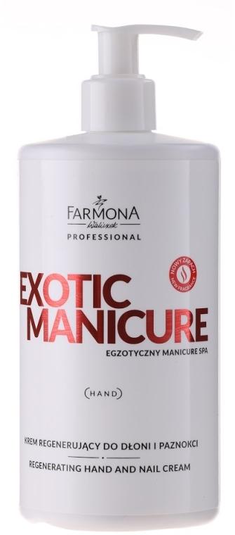 Regeneračný krém na ruky a nechty - Farmona Exotic Manicure SPA