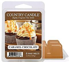 Voňavky, Parfémy, kozmetika Vosk pre aromatickú lampu - Country Candle Caramel Chocolate Wax Melts