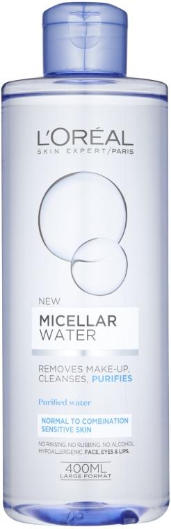 Micelárna voda pre normálnu a kombinovanú pokožku - L'Oreal Paris Micellar Water Normal To Combination — Obrázky N1