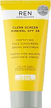 Voňavky, Parfémy, kozmetika Matný krém na opaľovanie - Ren Clean Screen Mattifying Face Sunscreen SPF 30