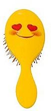 Voňavky, Parfémy, kozmetika Kefa na vlasy 2003W, emoji, usmievajúca sa tvár - IDC Design XL Detangle Brush