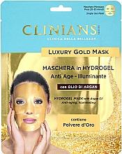 Voňavky, Parfémy, kozmetika Hydrogélová maska na tvár s arganovým olejom - Clinians Hydrogel Mask With Argan Oil And Golden Powder