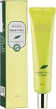 Voňavky, Parfémy, kozmetika Hydratačný krém na oči zo zeleným čajom - Deoproce Premium Greentea Total Solution Eye Cream