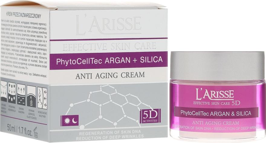 Krém proti vráskam s arganovými kmeňovými bunkami a silikónom 70+ - Ava Laboratorium L'Arisse 5D Anti-Wrinkle Cream Stem Cells & Silica