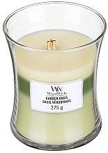 Voňavky, Parfémy, kozmetika Vonná sviečka v pohári - WoodWick Hourglass Trilogy Candle Garden Oasis
