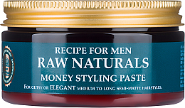 Voňavky, Parfémy, kozmetika Pasta na vlasy - Recipe For Men RAW Naturals Money Styling Paste