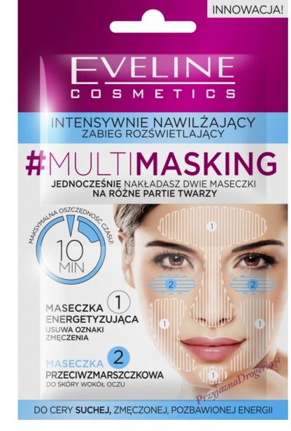 """Maska na tvár """"Hydratácia a rozjasnenie"""" - Eveline Cosmetics MultiMasking — Obrázky N1"""