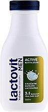 Voňavky, Parfémy, kozmetika Pánsky sprchový gél 3v1 - Lactovit Men Active 3v1 Shower Gel
