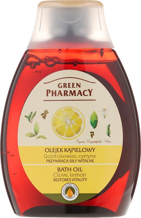 """Kúpeľový a sprchový olej """"Klinček a citrón"""" - Green Pharmacy"""