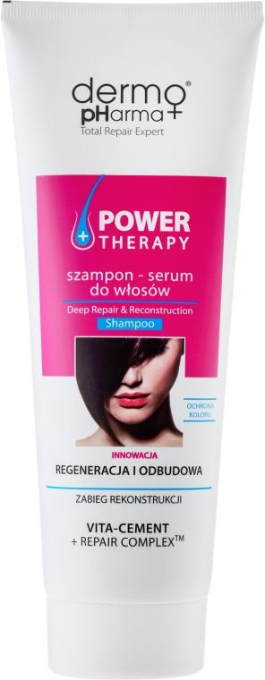 """Šampón-sérum na vlasy """"Regenerácia a rekonštrukcia"""" - Dermo Pharma Power Therapy Deep Repair & Reconstruction Shampoo — Obrázky N1"""