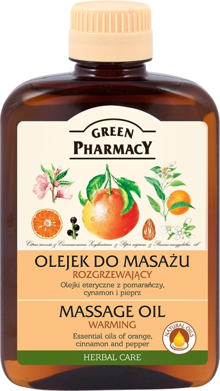 Otepľovanie masážny olej na telo - Green Pharmacy Warming Massage Oil