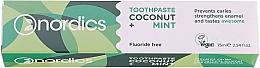 """Voňavky, Parfémy, kozmetika Zubná pasta """"Kokos a mäta"""" - Nordics Coconut + Mint Toothpaste"""