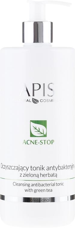Tonikum s výťažkami zo zeleného čaju na tvár - APIS Professional Cleansing Antibacterial Tonic