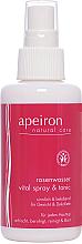 Voňavky, Parfémy, kozmetika Sprej na tvár a výstrih s ružovou vodou - Apeiron Rose Water Vital-Spray